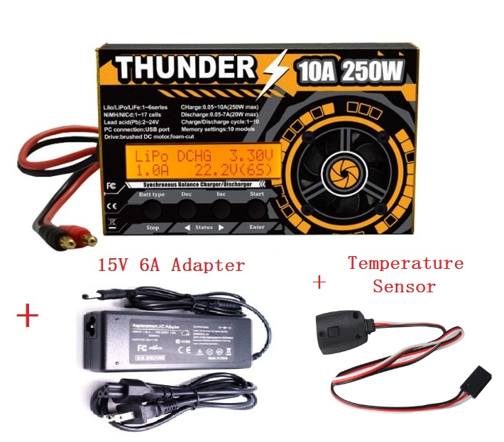 lowest price New Arrivals HOTA Thunder 250W 10A DC Balance Charger Discharger For LiPo NiCd PB Battery