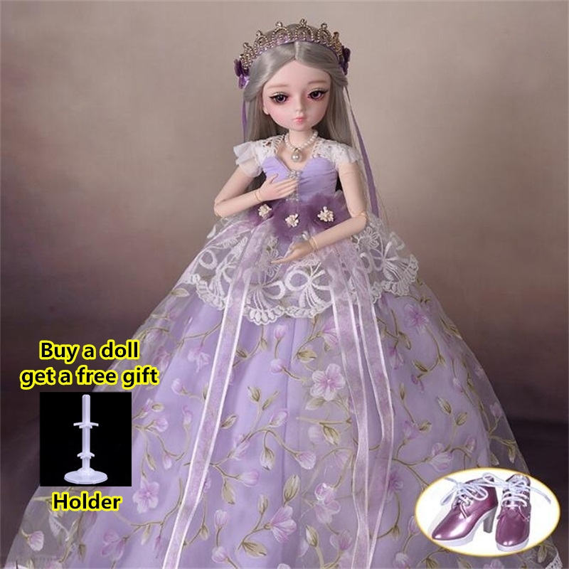 18 Movable Joints BJD Doll 1/4 With Full Outfits Wigs Shoes official Makeup Ball Jointed Dolls collection kids toys Christmas gi 8