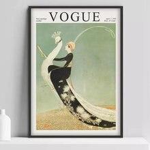 Affiche de couverture vintage, affiche, couverture de magazine, affiche de mode, Art Nouveau, point de vente d'art déco