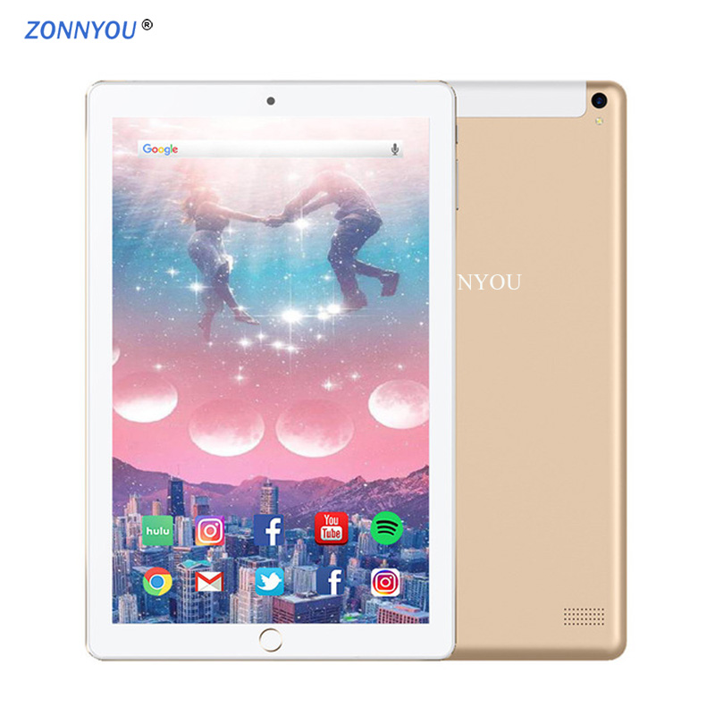 New 10.1 Tablet PC Android 8.0 Support Google Play 4G/3G Call Octa Core 6GB+128GB Wi-Fi Bluetooth Super Tablet PC+Keyboard