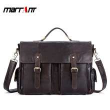 Leather mens bag brand first layer leather shoulder inclined flip magnetic buckle mailman