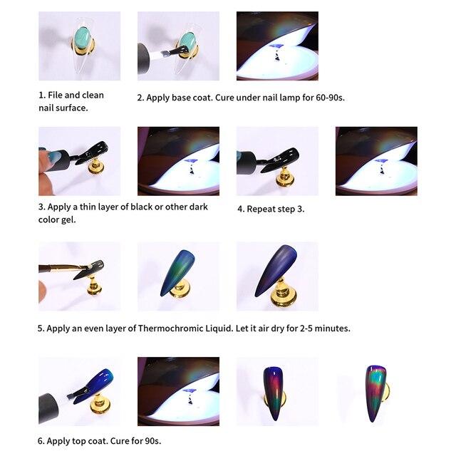 Elite99 Thermochromen flüssigkeit 2g Gel Polish Temperatur Farbe Ändern Soak Off Gel Nagellack Lack Schwarz Basis Benötigt Polnischen