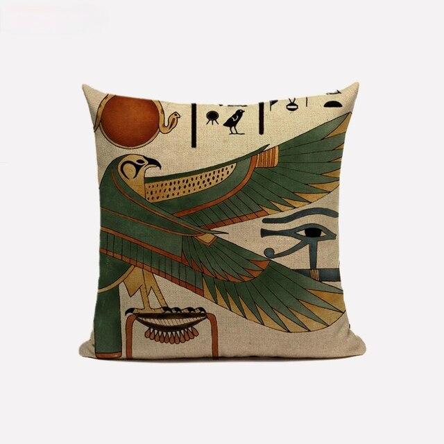 Egyptian Throw Pillow Case  3