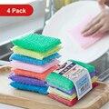 Волшебная губка для мытья посуды, кухонное полотенце, губка, щетка для мытья кухни, щетка для мытья, губка, домашний скребок для мытья посуды,...