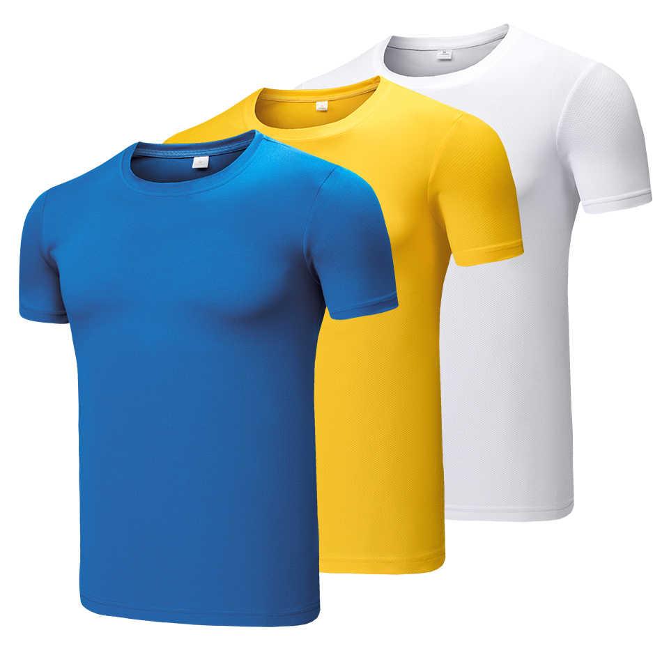 3 ピース/ロット 8XL 男性夏新カジュアル diy のカラー tシャツプラスサイズの tシャツトップスのメンズファッションスポーツウェア高速ドライ tシャツビッグ & トール男性