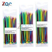100p 100 мм 150 мм 200 мм самоблокирующиеся Нейлоновые кабельные стяжки 10 цветов пластиковые стяжки на молнии 18 фунтов проволочные стяжки, ремни, сертифицированные UL
