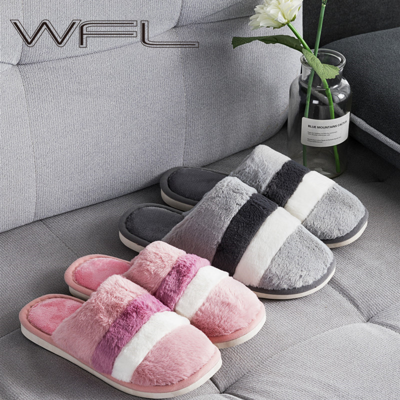 WFL Shoes Woman Zapatos De Mujer Indoors Soft Warm Winter Slippers Cozy Non-skid Bottom House Slippers At Home обувь женская