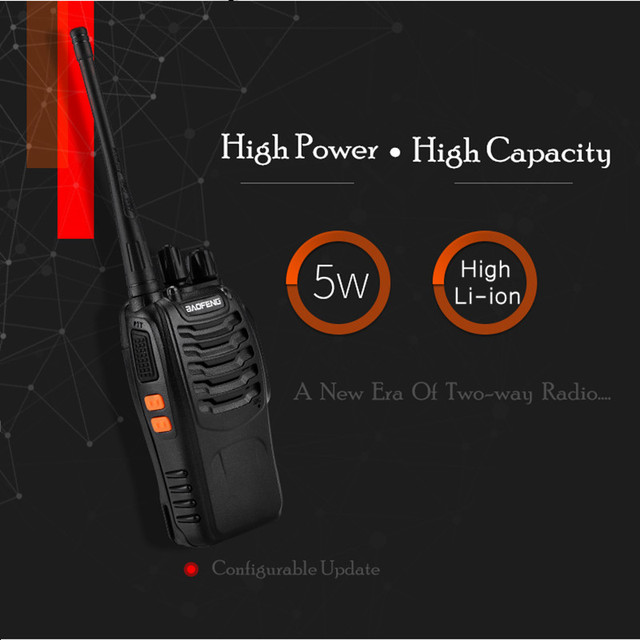 1PC or 2PCS Baofeng BF-888S Walkie Talkie 888s UHF 5W 400-470MHz BF888s BF 888S H777 Cheap Two Way Radio with USB Charger H-777 4