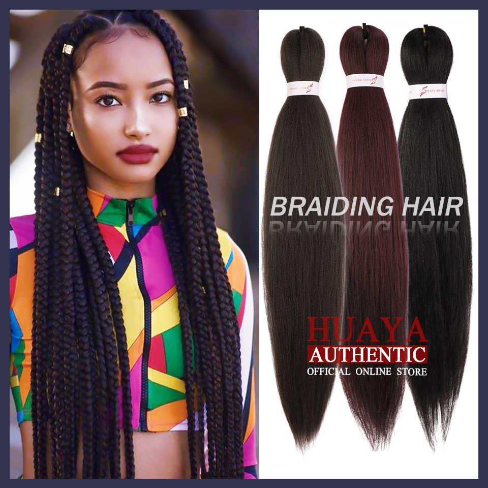 Huaya africano jumbo tranças ombre sintético trança cabelo crochê moda perucas roxo verde vermelho marrom rosa preto