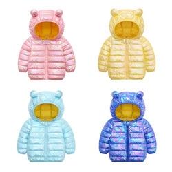 Menoea Children Winter waterproof Jacket 2020 Fashion Style boys girls Keep Warm Hooded Down Jacket Baby bright color Outerwear