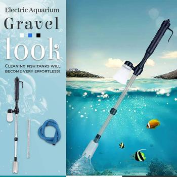 Elektryczne silne ssanie akwarium syfon obsługiwany Fish Tank płuczka piasku Cleaner 220V próżniowy żwir zmieniacz wody filtr syfonowy tanie i dobre opinie isfriday STAINLESS STEEL CN (pochodzenie) 400G Electric Aquarium Gravel Cleaner * 1