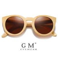 GM Natürliche Bambus Sonnenbrille Frauen Polarisierte UV400 Marke Designer Klassische sonnenbrille Männer Vintage Holz Sonnenbrille S824