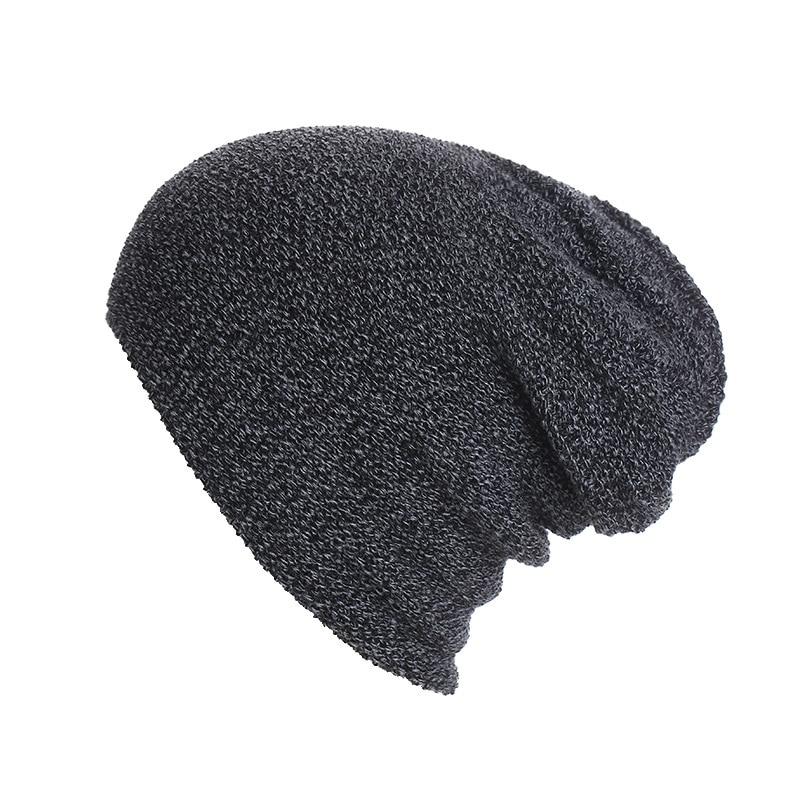 Autumn Winter Men's New Mixed Color Striped Knitted Beanie Women Hip-Hop Skullies Warm Wool Hat Unisex Outdoor Sports Ski Cap