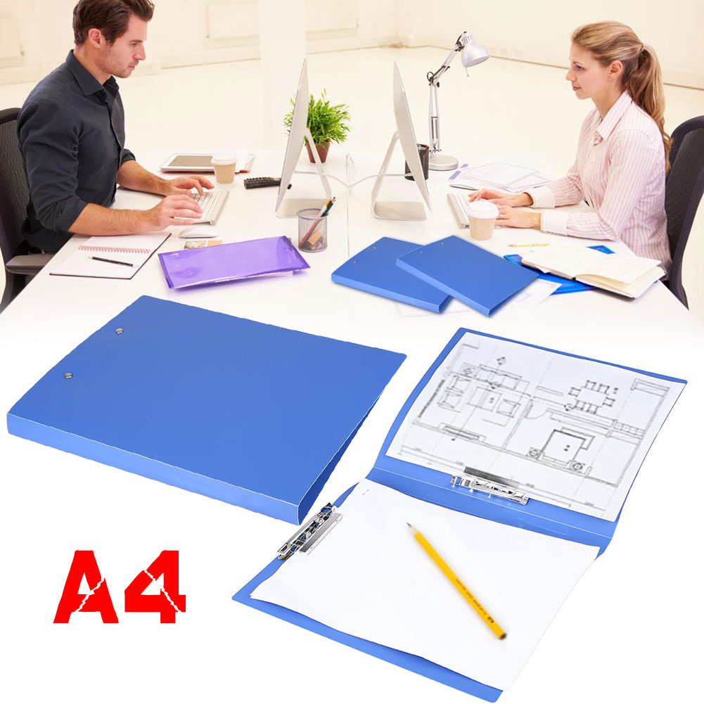 Storage Pocket Folder Office Supplies School Folders A4 Holder PP Blue Files Folder/A4 Paper Business File Folder
