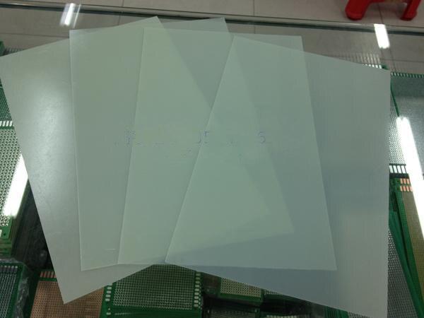20*30CM 0.5mm Bare Test Board Test Universal Board High Temperature Insulation Board Green Glass Fiber PCB Board