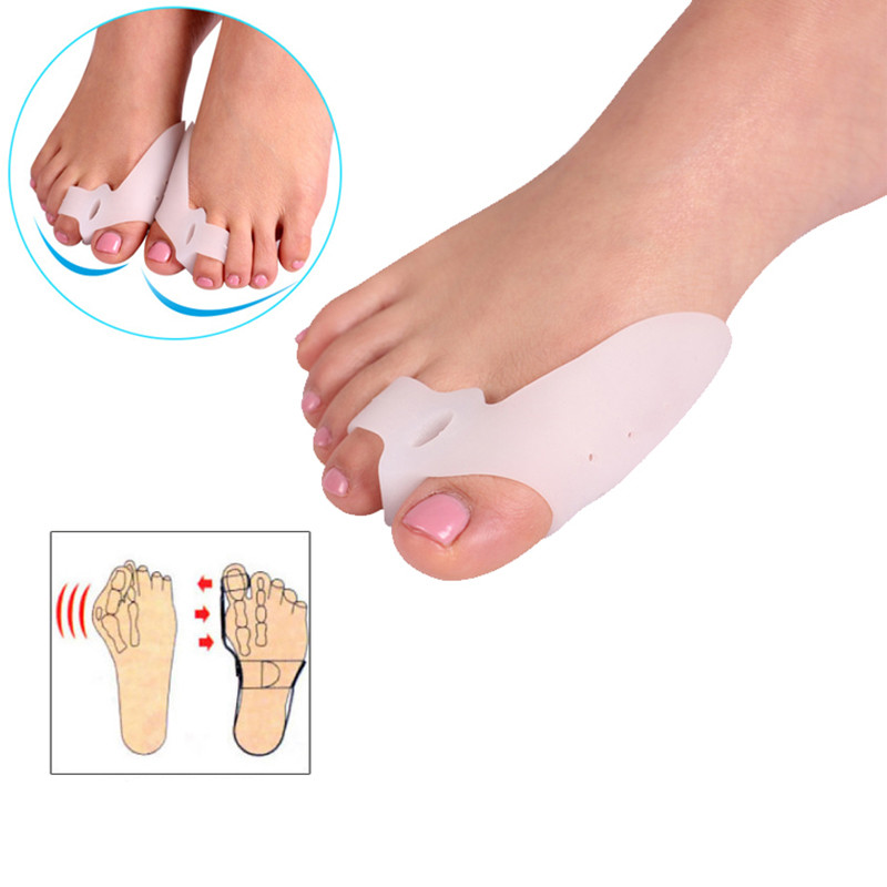 2PCS=1Pair New Foot Care Special Hallux Valgu Thumb Orthopedic Deliver Braces Silicone Gel Protector Toe Separators Straightener