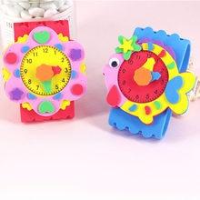 Jouets artisanaux EVA Watch pour enfants, cadeau rose pour filles, Fabrication, artisanat d'art Animal, jouet éducatif, jeu de maternelle