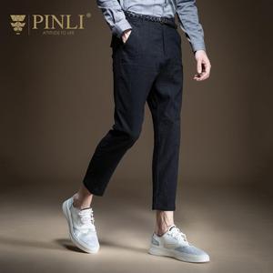 Pinli 2020 летние новые тонкие дышащие мягкие ткани, повседневные Костюмные брюки, мужские брюки-карандаш длиной до щиколотки, высококачественн...