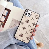 Luxury Geometric Lattice Pattern Leather Phone Case For iPhone 13 12 11 Pro XR X XS Max 7 8 Plus Fashion Texture Grid Soft Cover