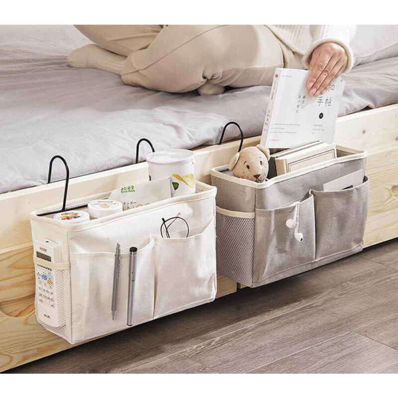 Bedside Storage Organizer Bed Desk Bag Sofa TV Remote Control Hanging Caddy Couch Storage Organizer Bed Holder Pockets