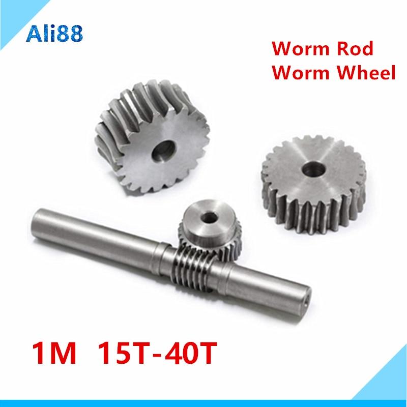 1kit Metalen Worm Reduction Gear Set Metalen Wiel Snelheidsreductiemiddel Wormwiel Voor Diy Accessoire Шестеренки