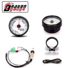 「 DRAGON 」 указатель соотношения воздушного топлива 60 мм, дисплей с датчиком и узким диапазоном датчика кислорода O2, подходит для автомобиля 12...