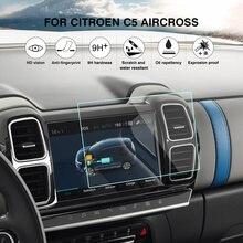 Защита экрана для Citroen C5 Aircross gps Навигация экран стекло защитная пленка для стайлинга автомобилей
