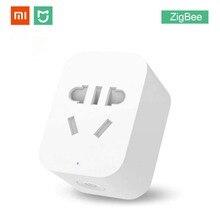 Xiaomi Mijia Smart WiFi Socket Zigbee Version APP Remote Control Timer Power Plug Power Detection Plug Work with Gateway D5 #