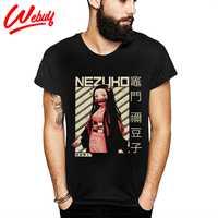 T-Shirt unisexe Kamado Nezuko démon Slayer décontracté doux Slim coton pas cher La Camiseta T-Shirt
