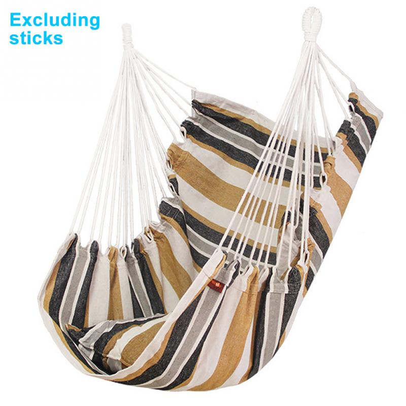 Canvas With Cushion Outdoor Swing Hanging Hammock Chair Relaxation Home Garden Adults Kids Travel Camping Furniture Indoor