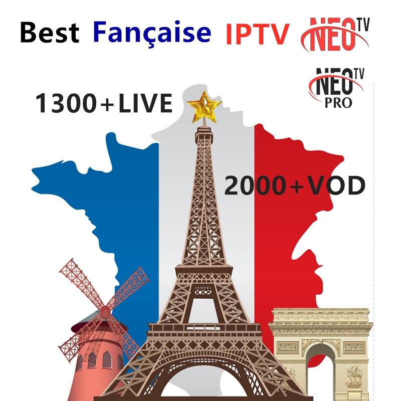 French IPTV 1 Year NEO IPTV Subscription 1300+Live France  Belgium Morocco Arabic IPTV France M3u IP TV Android Smart Tv Box
