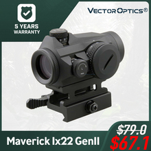 Vector Optics Maverick 1x22 GenII Red Dot Sight Tactical 3 MOA 11 Levels Red Compact with QD Picatinny Mount for Target Shooting