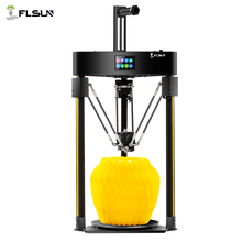 Flsun impresora 3D Q5 Delta, dispositivo con Sensor de nivel automático, hoja de montaje preensamblada, TFT, placa de 32bits, Kit de Metal Kossel Titan TMC 2020, 2208