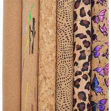 Lychee Life 29x21cm A4 Vintage Soft Cork Fabric For Garment Handbag High Quality Synthetic Leather DIY Sewing Materials cheap CN(Origin) 0 95mm waterproof Other Nonwoven Home Textile Decorative Belt Shoes