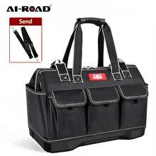 AI-ROAD Wear-Resistant Men Tool Bag Electrician Handbag Large Capacity kit Hardware Organizer Crossbody Belt Travel Backpack