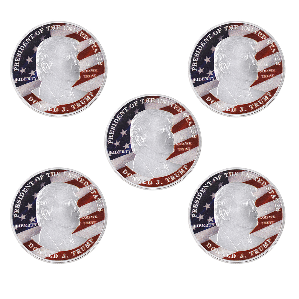 Wholesale Hot Sale Donald Trump Silver Coin Collectible American Metal Coin Good Quality Souvenirs Gifts for Birthday Souvenir