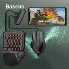 Baseus клавиатура мышь мобильный телефон игровой адаптер Геймпад контроллер конвертер мобильная игра передача станция для Android и iOS