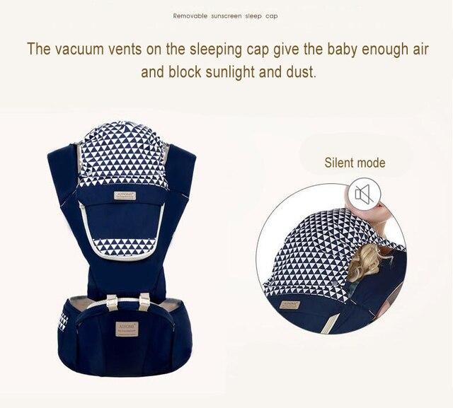 Ergonómico bebé infantil chico bebé del abrigo de la Honda frontal canguro bebé abrigo del portador de bebé de 0-36 meses GYH