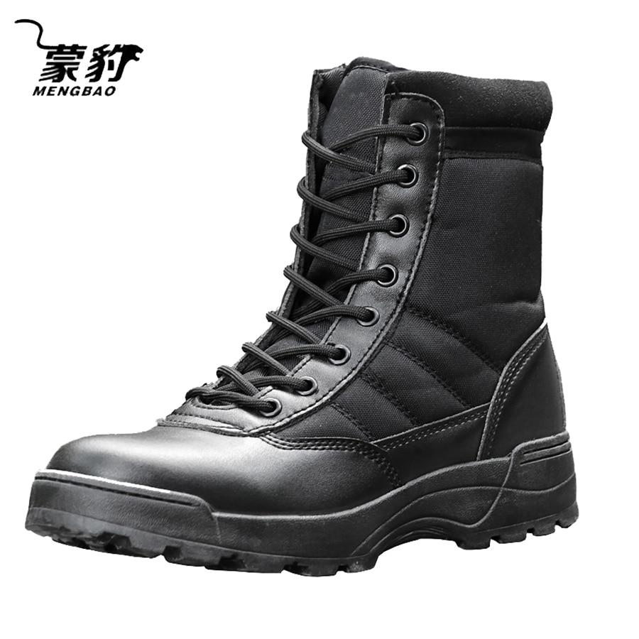 Мужские черные тактические военные армейские ботинки, дышащие кожаные сетчатые высокие повседневные ботинки для пустыни, рабочие ботинки, мужские Ботильоны спецназа|Защитная обувь| | АлиЭкспресс