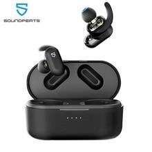 SoundPEATS Truengine 2 Bluetooth 5.0 אלחוטי אמיתי אוזניות כפולה דינמי נהגים הצלבות אוזניות אלחוטי טעינת אוזניות