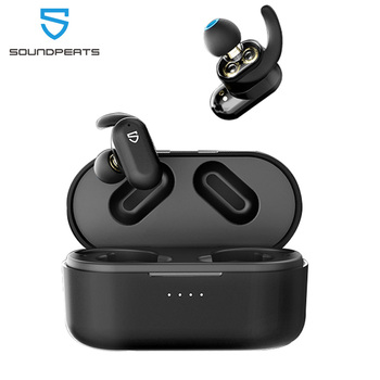 SoundPEATS Truengine 2 Bluetooth 5.0 True Wireless Earbuds Dual Dynamic Drivers Crossovers Earphones Wireless Charging Earphones