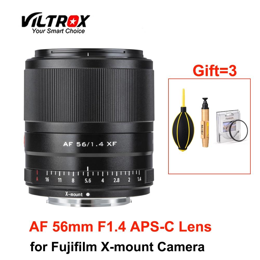 Viltrox 56 мм F1.4 Камера объектив для мобильных телефонов с автофокусом широкоугольный объектив с апертурой для ЖК-дисплея с подсветкой Fujifilm X-mount...