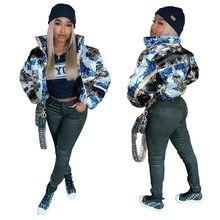Женская зимняя хлопковая куртка на молнии с длинным рукавом