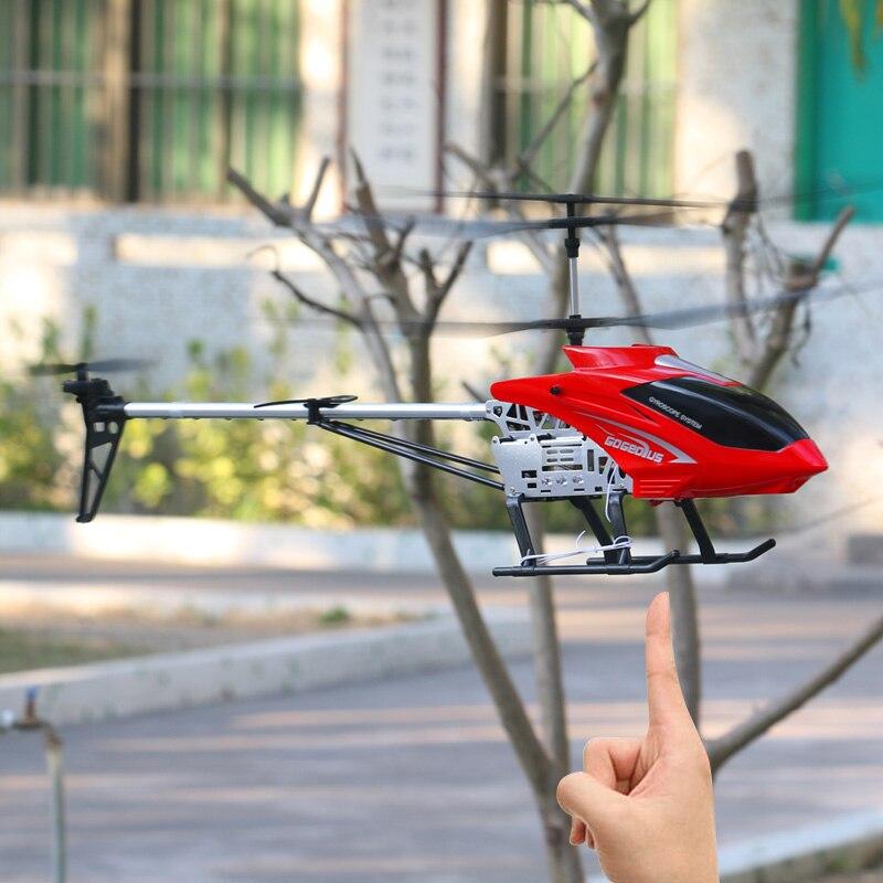 3,5ch 80 см супер большой вертолет с дистанционным управлением летательный аппарат с защитой от падения Радиоуправляемый вертолет зарядка игрушка Дрон модель БПЛА уличная Летающая модель 4