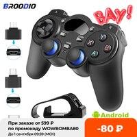 Console di gioco Wireless Gamepad Joystick 2.4G con adattatore convertitore Micro USB OTG per PS3/Smart Phone per Tablet PC Smart TV Box