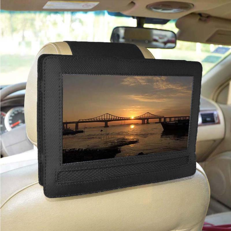 "HiMISS 10.5"" Portable Black Cloth DVD Player Car Headrest Support Bracket Holder For DBPower"