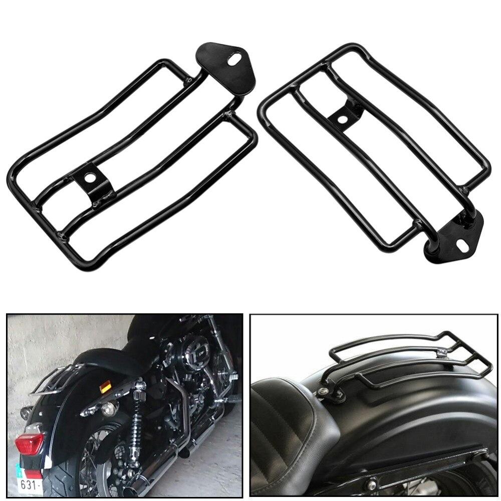 Мотоцикл сзади соло сиденья Чемодан стойки для Harley Sportster Утюг XL1200 883 2004- 2013 2012 2011