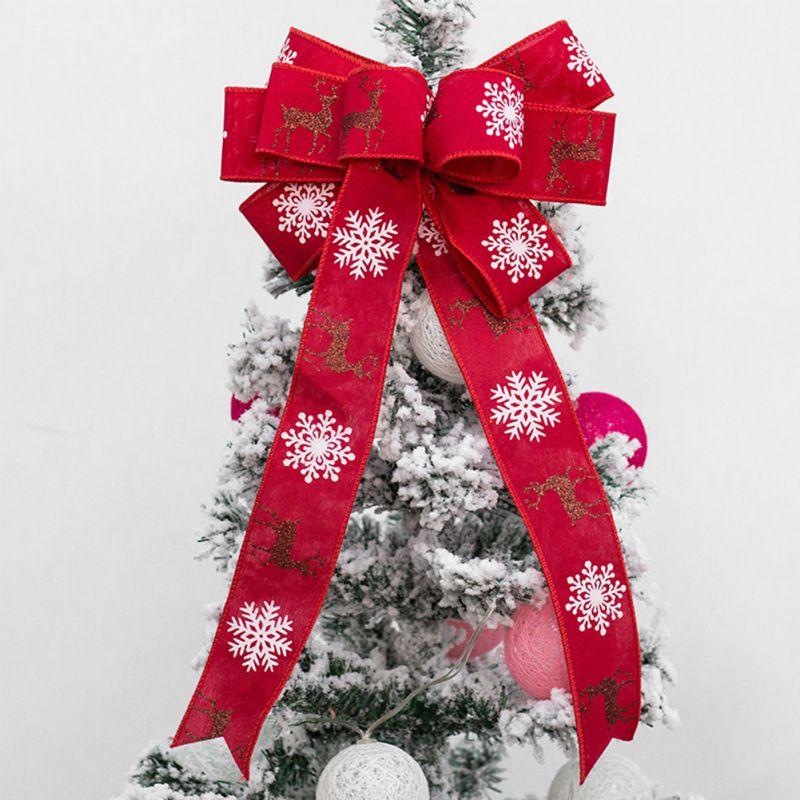 Christmas Present Decoration.Us 3 04 35 Off Christmas Bow Red Cute Christmas Decoration Gift Box Decoration Home Decoration Ribbon Christmas Bow On Aliexpress 11 11 Double