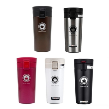 380ml Coffee Mug Thermocup Double Wall Stainless Steel Vacuum Flasks Car Thermo Travel Mug Portable Drinkware Coffee Tea Cup Hot