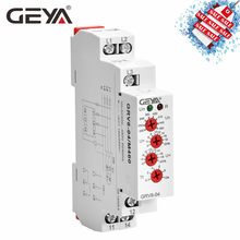 Free Shipping GEYA GRV8-04 Three Phase Voltage Control Relay Phase Sequence Phase Failure Over Voltage Undervoltage Protection(China)